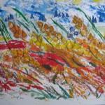 1.13 Vent dans la prairie - 2010 - encre et plume feutre
