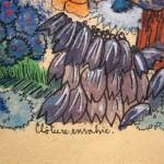 2.10 Cloture envahie (detail 1) - gouache et plume feutre - 15' X 12'