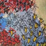 2.10 Cloture envahie (detail 2) - gouache et plume feutre - 15' X 12'