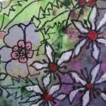 2.19 Les guepes (detail) - gouache,aquarelle et plume feutre - 20cm X 25cm