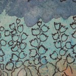 2.2  Pieds d'alouettes (detail) -  Encre imprimerie plume feutre - 9'' X 1'