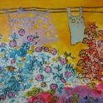 2.26 Vent ensoleille (detail) - gouache,aquarelle et plume feutre - 40cm X 50cm