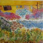2.26 Vent ensoleille - gouache,aquarelle et plume feutre VENDU - 40cm X 50cm
