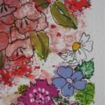 2.29 La fleur blanche (detail 1) - gouache et plume feutre - 27cm  X 33cm