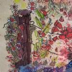 2.5 Le jardin bleu (detail) - gouache et  plume feutre  - 20cm X 16cm