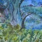 2.6 Mon  arbre - aquarelle, gouache et plume feutre - VENDU