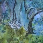 2.6 Inebranlable mon bel arbre (detail 1) - aquarelle, gouache et plume feutre - 18'' X 15''