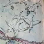 3.1 sans titre (detail 1) - aquarelle et plume feutre - vendu