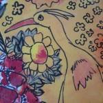 3.2 Amyot (detail) - aquarelle et  plume feutre