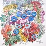 4.9 Mai fleuri - gouache et plume feutre - 8cm X 12cm